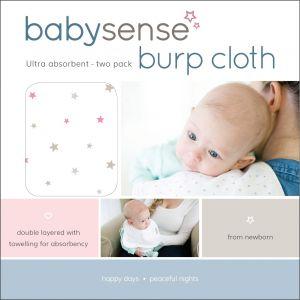 Baby Sense Burp Cloths - Pink
