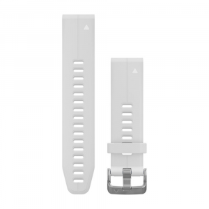 Garmin QuickFit 20mm - White Silicone Band (S/M)
