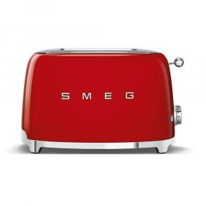 Smeg Red Retro Style 2 Slice Toaster - TSF01RDSA