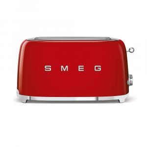 Smeg Red Retro Style 4 Slice Toaster - TSF02RDSA