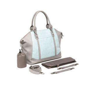 Baby Sense Mom & Baby Handbag - Charmaine Grey & Blue