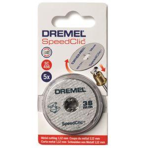 Dremel EZ Speedclic Metal Cutting Wheels - 5 Pack