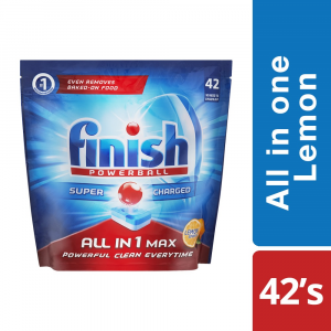 Finish Auto Dishwashing All in One Tablets Lemon - 42's