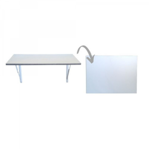 SpaceSave Fold Down Wall Mounted Study Desk Table 73x53cm - White
