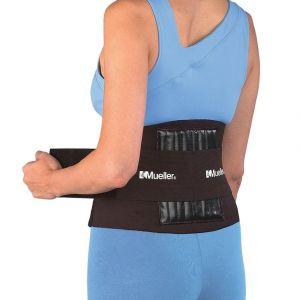Mueller Adjustable Back Brace Black One-Size-Fits-Most
