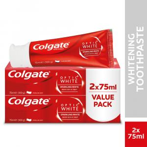 Colgate Optic White Sparkling White Whitening Toothpaste - Value Pack - 2 x 75ml