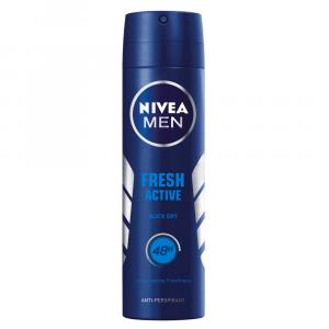 NIVEA MEN Fresh Active 48h Deodorant Anti-Perspirant Spray - 150ml