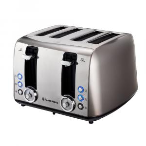 Russell Hobbs Grey Vintage 4 Slice Toaster RHTVIN4-8