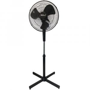 Alva 40cm Plastic Pedestal Fan (Black)