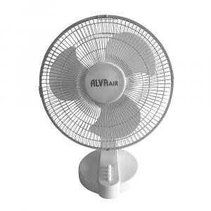 Alva 30cm Plastic Desk Fan (White)