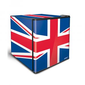 Alva 46l Counter-Top Mini Fridge - Solid Door - Union Jack Flag