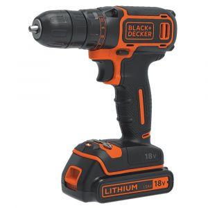 Black + Decker 18V Drill Driver (200mA F5 Charger, 1 x 1.5Ah Battery, Carton)