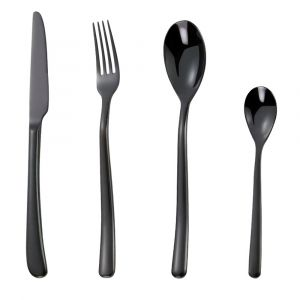 Nicolson Russell Buddha Black 24pc Cutlery Set