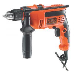 Black + Decker 710W VSR 13mm Keyed Spindle Lock Hammer Drill with Kitbox