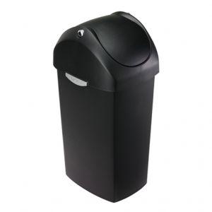 Simplehuman 60L Swing Bin - Black Plastic