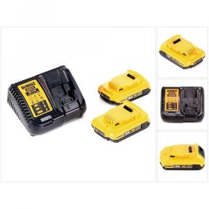 DeWalt 18V XR 2Ah Batteries & Charger Yellow