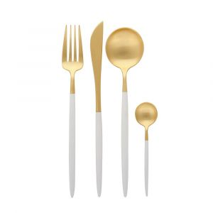 Nicolson Russell Dubai Gold and White 16pc Cutlery Set