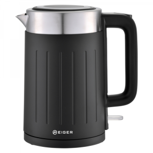 Eiger Lineo Nero Series Stainless Steel Cold-touch Cordless Kettle with Boil Dry Protection