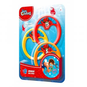 Aqua Creatures Dive Rings Dragon 3 Pack Blister Card