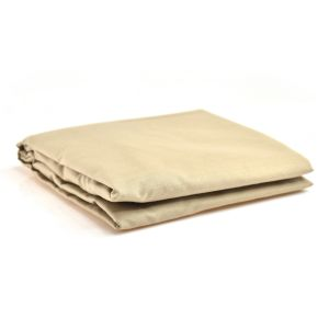 Cabbage Creek Large Cot Fitted Sheet - Natural