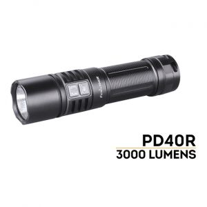 Fenix Flashlight PD40R - 3000 Lumens, 223M beam distance, Micro USB Charge
