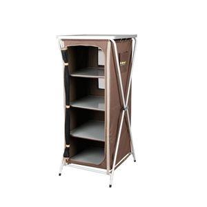 Oztrail Deluxe Folding 4 Shelf Cupboard
