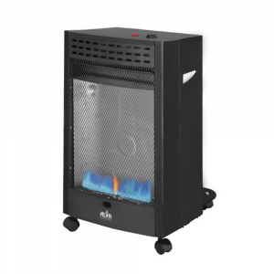 Alva Blue Flame Convection Roll About Gas Heater - Black