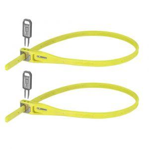 Hiplok Z Lok Security Ties Twinpack - Lime