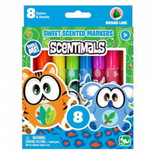 Scentimals Stationery 8 Broadline Scented Markers