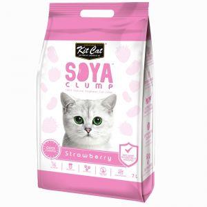 Kit Cat Soya Clump Cat Litter - Strawberry 7L