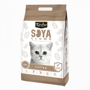 Kit Cat Soya Clump Cat Litter - Coffee 7L