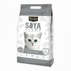 Kit Cat Soya Clump Cat Litter - Charcoal 7L