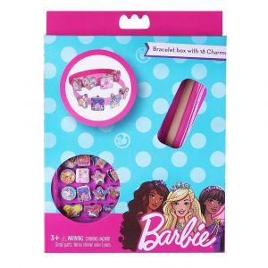 Barbie Bracelet Box with 18 Charms