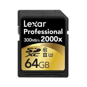 Lexar 64GB Professional SD 2000x 90MB/s (Class 10, UHS-II)