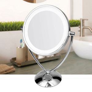 Mirror & Co. Double Sided LED Mirror 1/8X Magnification w/Stand