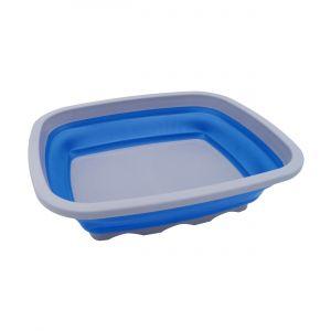 Leisure Quip Large Rectangular Foldaway Washing Up Bowl - Blue