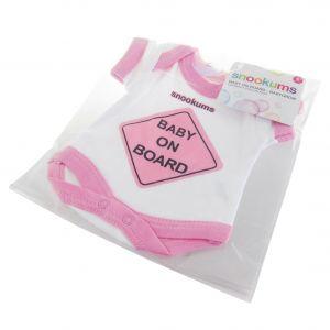 Snookums Baby On Board Babygrow - Pink