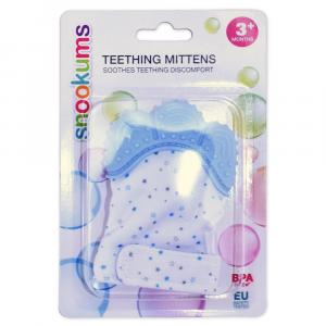 Snookums Teething Mittens - Blue Stars