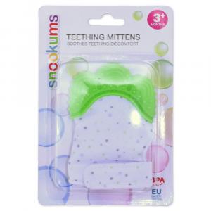 Snookums Teething Mittens - Green Stars