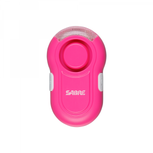 SABRE Personal Alarm with LED Light - Pink