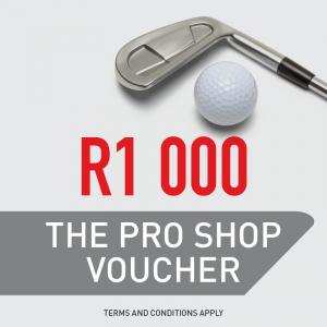The Pro Shop R1 000 Gift Voucher