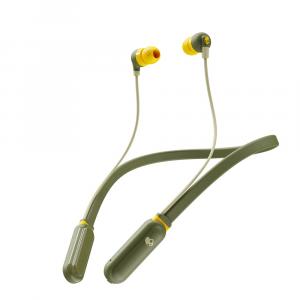 Skullcandy Ink'd+ Wireless In-Ear - Moss/Olive/Yellow