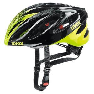 Uvex Boss Race Cycling Helmet - Black/Yellow - Size 52-56