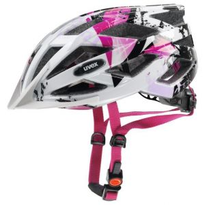 Uvex Air Wing Cycling Helmet - White/Pink - Size 52-57