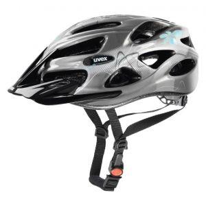 Uvex Onyx Cycling Helmet - Silver/Blue - Size 52-57