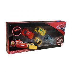 Disney Cars 3D Eraser Figure 4pk