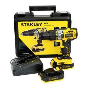 Stanley 18V Li-Ion 13mm Hammer Drill + Kitbox