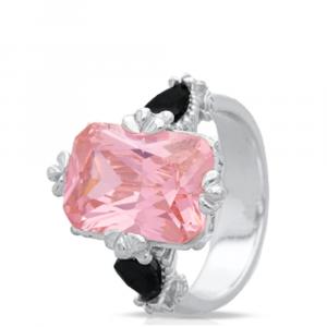 Jenna Clifford Morgan Ring - Pale Pink & White