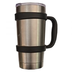 Thermo Steel Frosty 590ml Vacuum Tumbler W/Handle