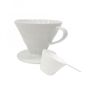 Hario Coffee Dripper V60 02 Ceramic - White (1-4 Cup)